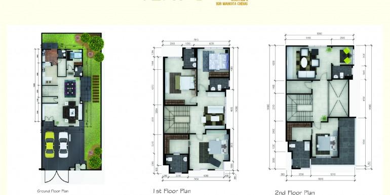 spring villa semi d floor plan A3-01