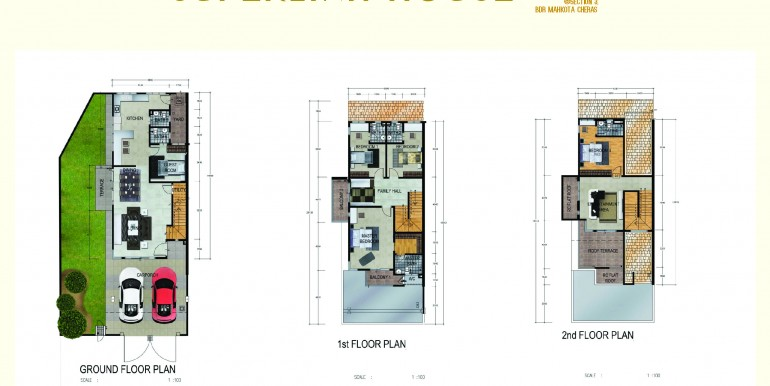 spring villa superlink house  floor plan A3-01