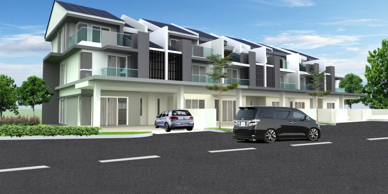 610 Site Perspective - Terrace