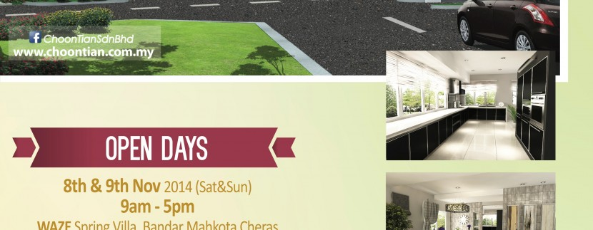 SPRING VILLA Open Days on November 8-9